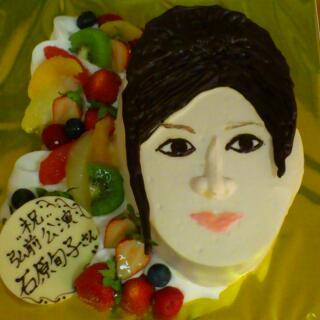 私の顔のケーキ